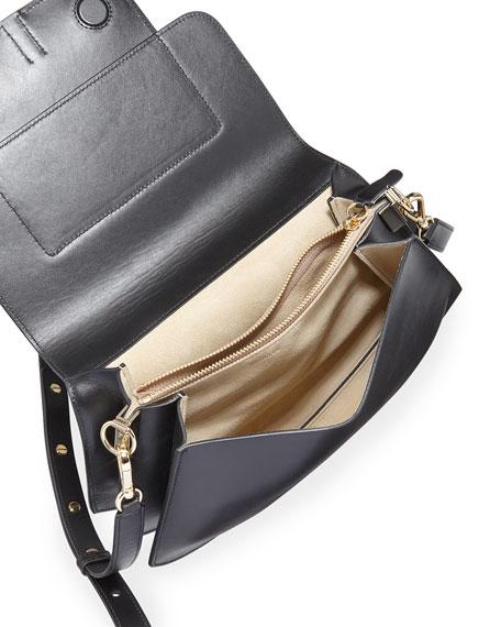 Al Calf Leather Top Handle Bag
