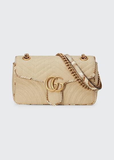 426dee08ab0f GG Marmont Raffia Shoulder Bag Quick Look. Gucci