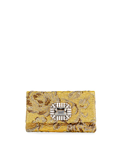 Titania Brocade Fabric Clutch Bag
