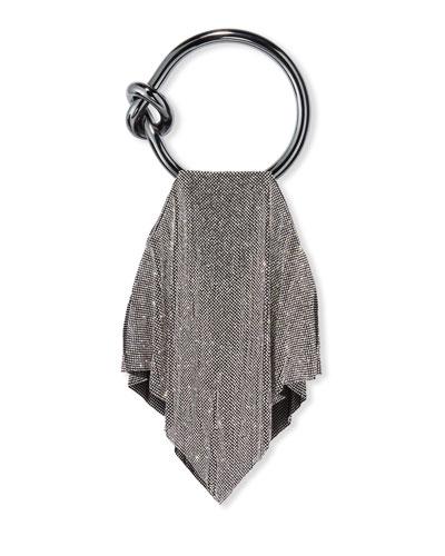 Casper Metal Mesh Clutch Bag  Silver
