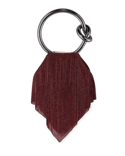 Casper Metal Mesh Clutch Bag  Dark Magenta/Rose