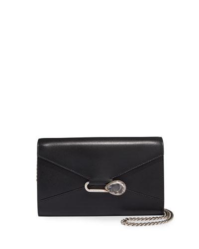 Mini Pin Leather Clutch Bag