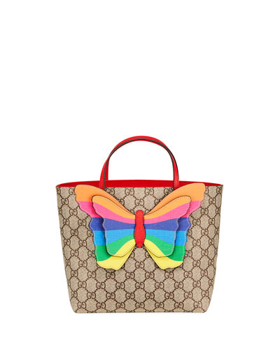 Kid's GG Supreme 3D Butterfly Tote Bag