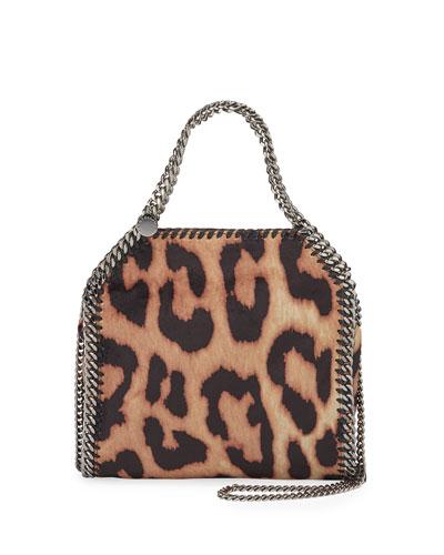 Mini Falabella Shaggy Deer Leopard Tote Bag