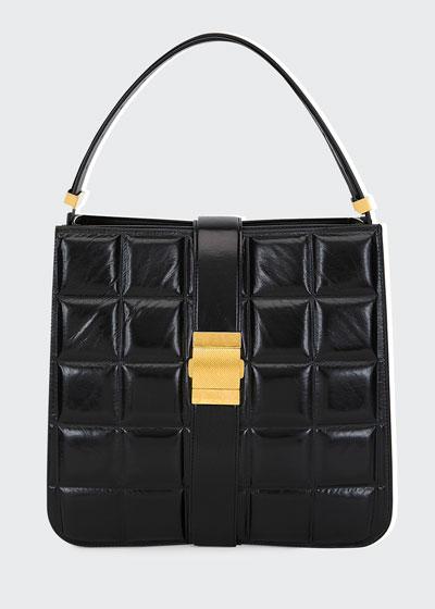 9abb089eed0f9f Medium Puffer Shiny Paper Calf Shoulder Bag Quick Look. Bottega Veneta