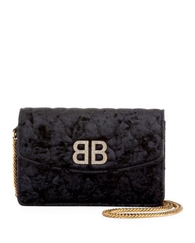 BB Crystal Velvet Wallet On Chain