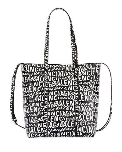 8401aef271 Everyday Small Wave Logo Calfskin Tote Bag Quick Look. Balenciaga