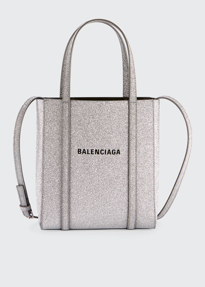 bfe4eb22d1 Everyday XXS Glittered Calfskin Tote Bag Quick Look. Balenciaga