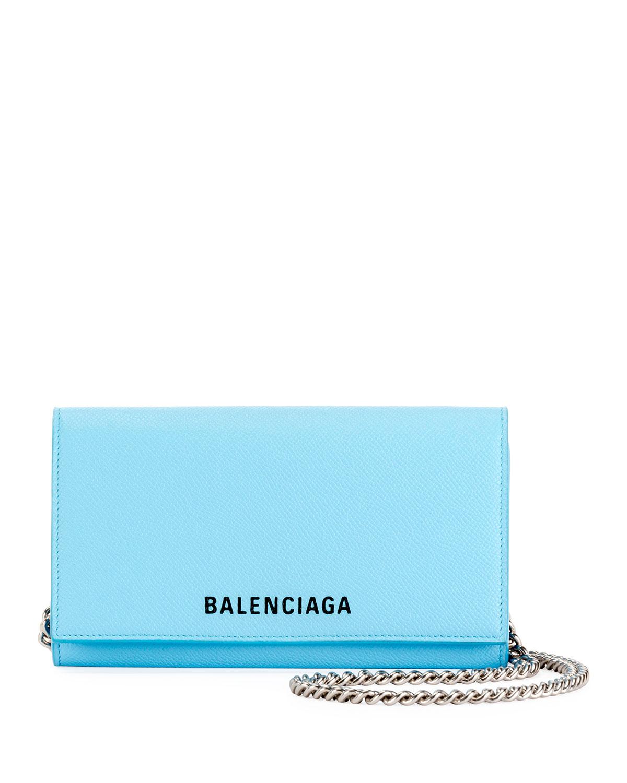 Ville Phone On Chain Calfskin Wallet Bag by Balenciaga