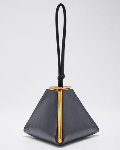 Spazzolato Triangle Clutch Bag