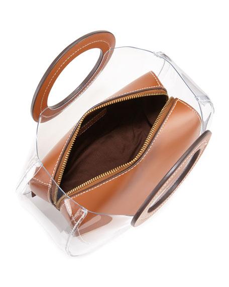 Frida Leather and PVC Tote Bag