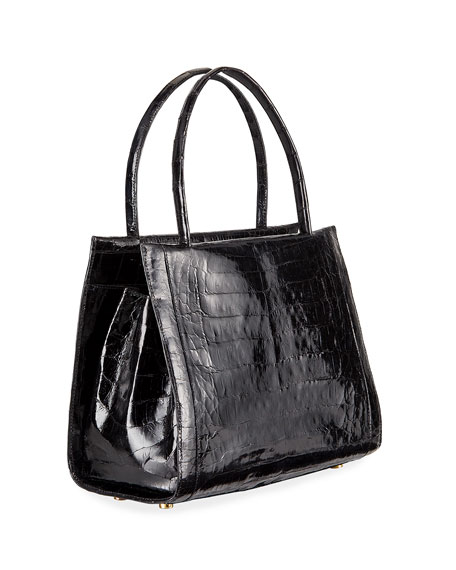 Wallis Medium Crocodile Tote Bag