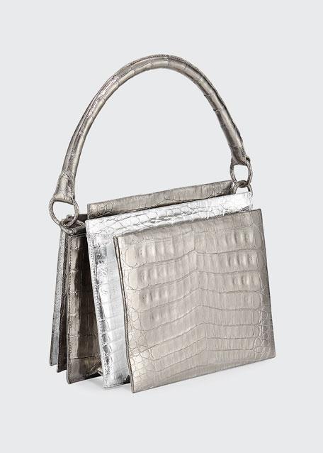 Radizwill Crocodile Top Handle Bag