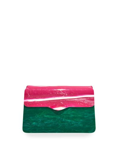 Two-Tone Acrylic Shoulder Bag