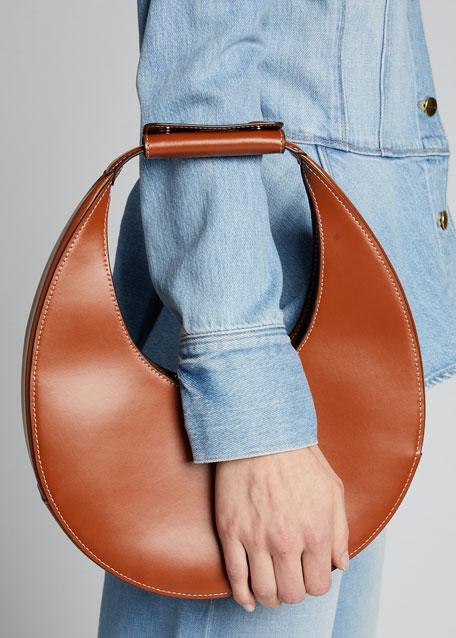Leather Moon Hobo Bag