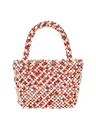 Mina Beaded Tote Bag