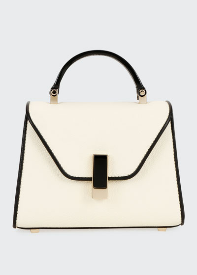 Iside Micro Two-Tone Saffiano Top-Handle Bag