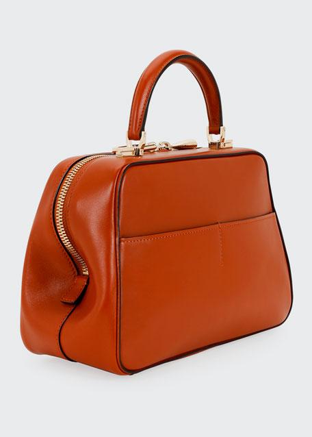 Medium Glossy Calf Top Handle Bag