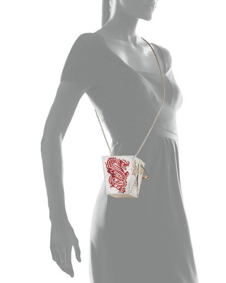 Crystal Take Out Box Clutch Bag