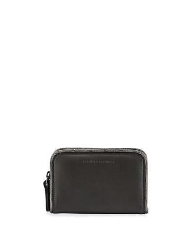 Matte Calf Zip Wallet