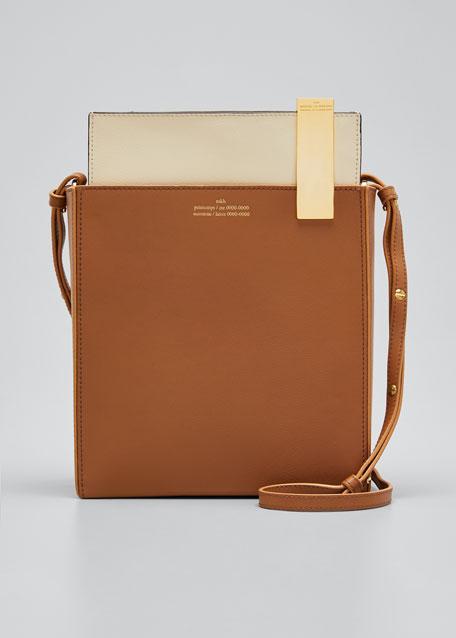 File Leather Shoulder Bag