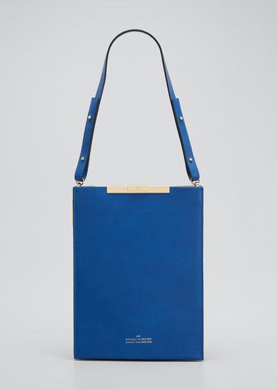 File B Leather Tote Bag