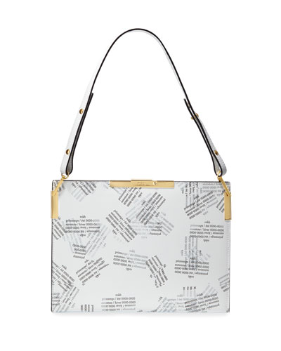 Leather File C Shoulder Bag