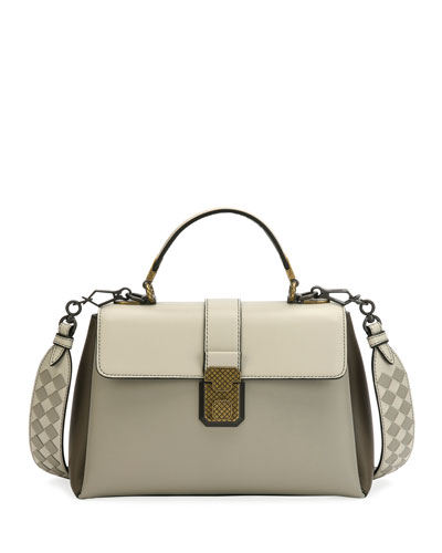 Piazza Medium Colorblock Leather Top-Handle Bag