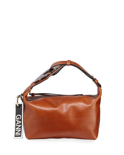 Smooth Small Buckle Satchel Bag