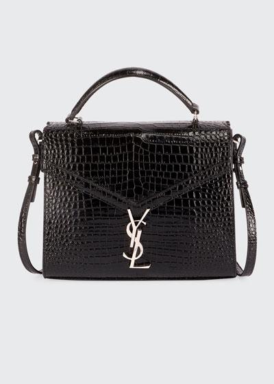 216440079eb Cassandra Crocodile-Embossed Top Handle Bag Quick Look. Saint Laurent