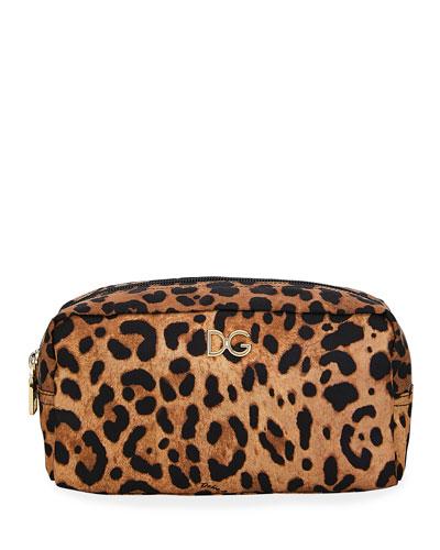 Leopard Nylon Cosmetic Case