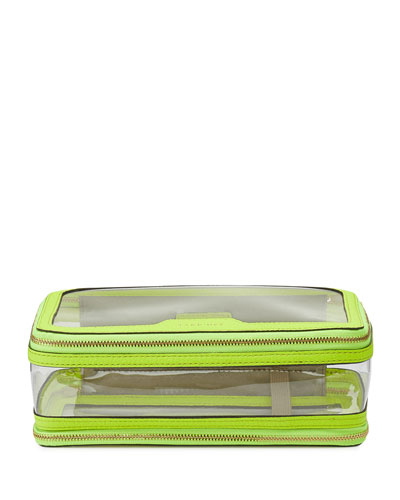 Inflight See-Through Cosmetics Bag  Neon Yellow