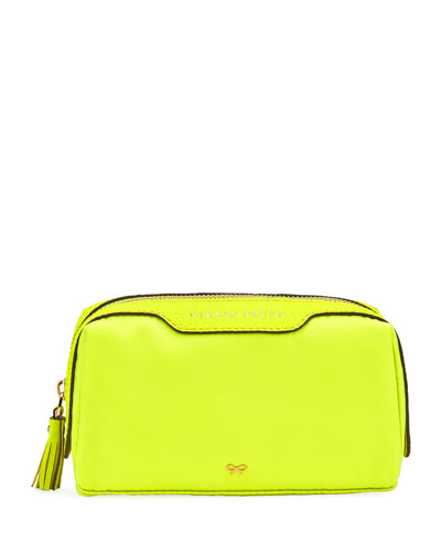 Girlie Stuff Nylon Cosmetics Bag  Neon Yellow