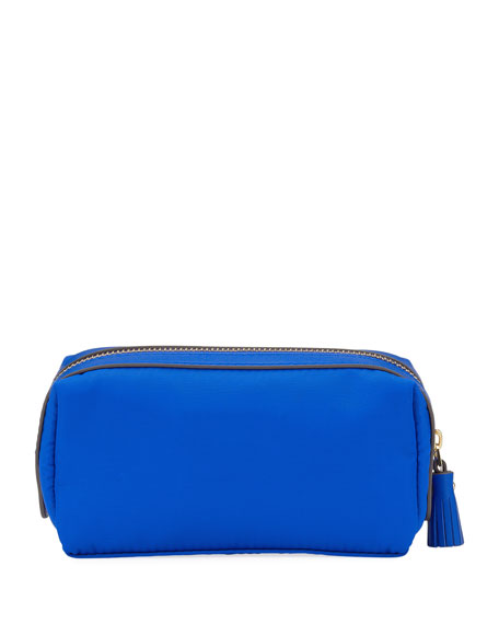 Girlie Stuff Nylon Cosmetics Bag, Electric Blue