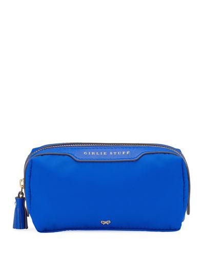 Girlie Stuff Nylon Cosmetics Bag  Electric Blue