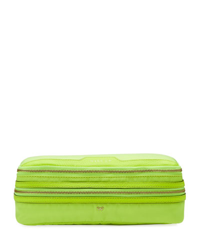 Make-Up Cosmetics Bag  Neon Yellow