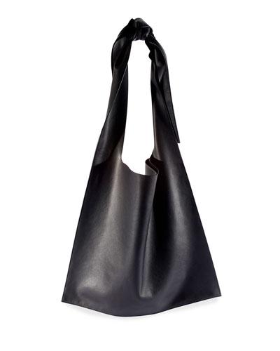 Bow Napa Calf Shoulder Bag
