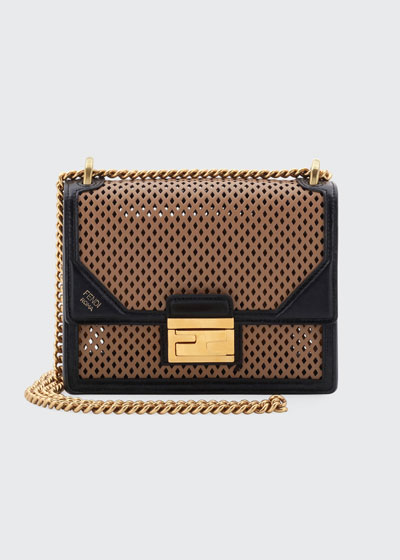 Kan U Small Perforated Leather Crossbody Bag