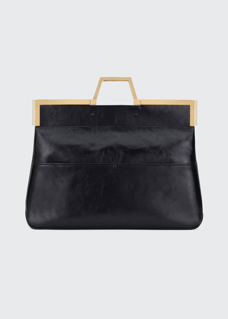 Shine Large Leather Tote Bag