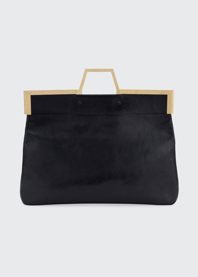 Shine Large Leather Tote Bag