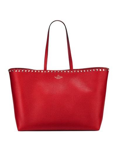 Rockstud Vitello Tote Bag