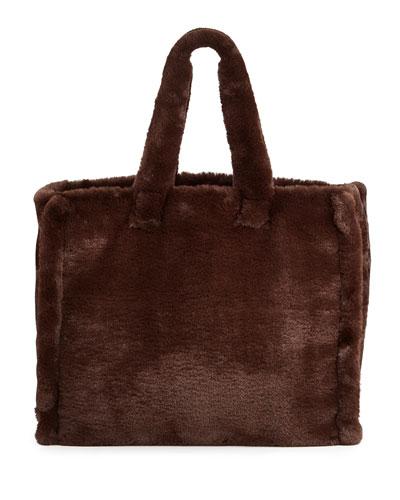 Lola Faux-Fur Tote Bag