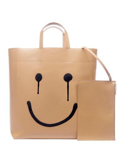 Market Medium Happy Printed Tote Bag
