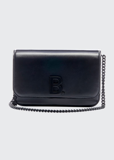 B Continent Chain Shiny Box Wallet
