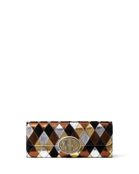 Diamon Snakeskin Patchwork Clutch Bag