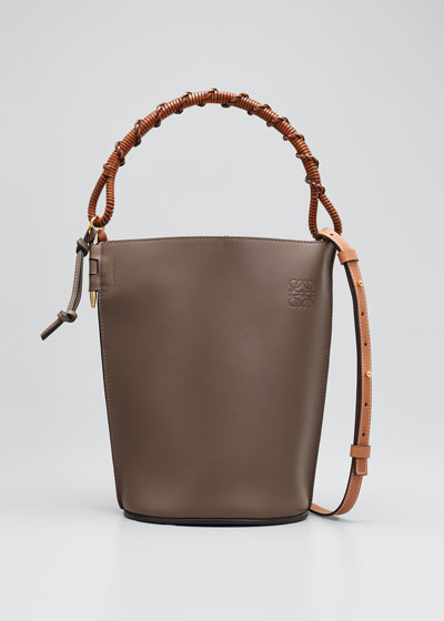 Gate Top Handle Bucket Bag