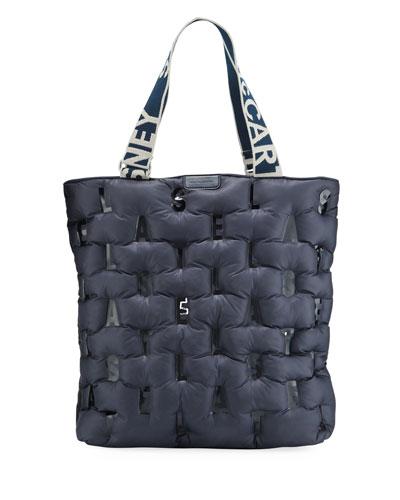 Medium Zip Puffer Monogram Tote Bag