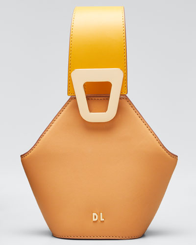 Johnny Leather Hexagon Extra Small Shoulder Bag