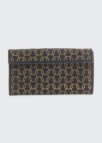 Suede Swarovski Clutch Bag