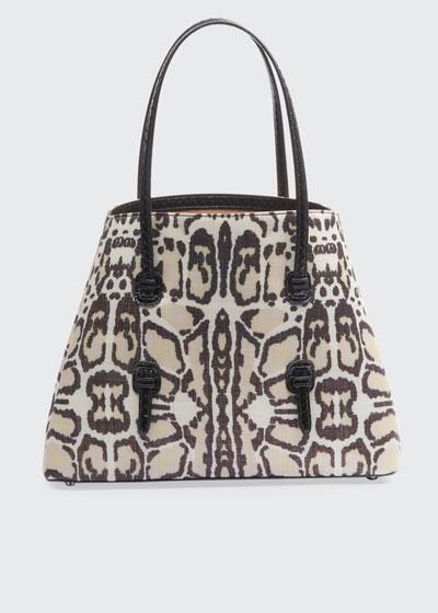Mina Leopard-Print Medium Tote Bag